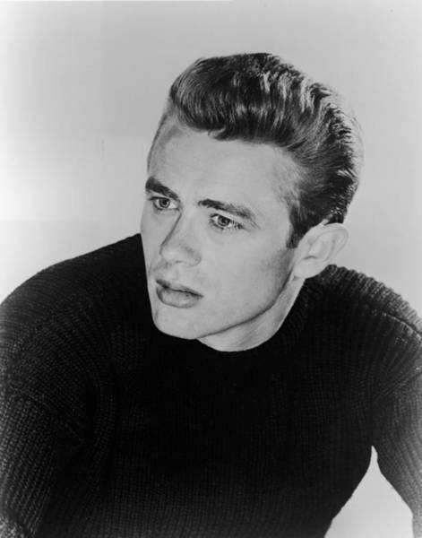 Sweater Photograph - Portrait Of James Dean by Hulton Archive