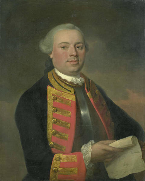 Painting - Portrait Of Johan Arnold Zoutman by August Christian Hauck