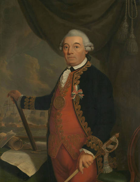Painting - Portrait Of Johan Arnold Zoutman by Cornelis van Cuylenburgh