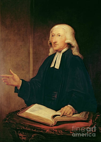 Wall Art - Painting - Portrait Of John Wesley by William Hamilton