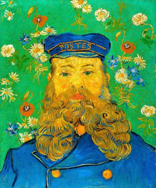 Mustache Painting - Portrait Of Joseph Roulin - Digital Remastered Edition by Vincent van Gogh