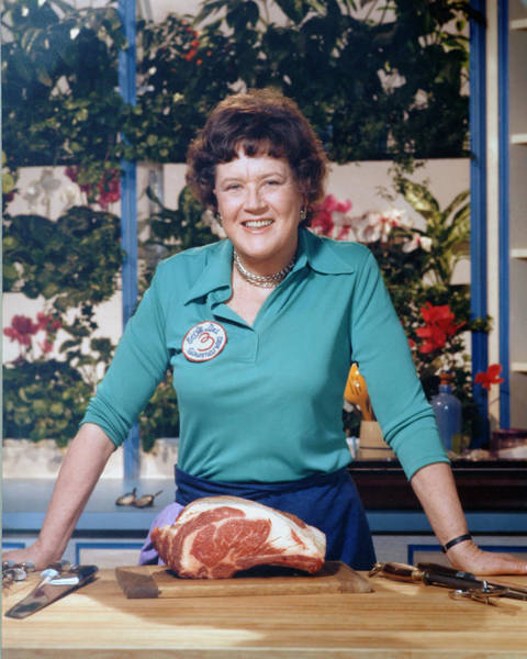 Carving Photograph - Portrait Of Julia Child by Bachrach