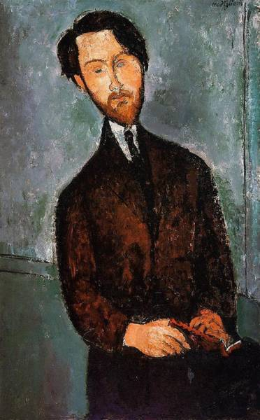 Wall Art - Painting - Portrait Of Leopold Zborowski - 1916-1917 - Museum Of Fine Arts - Houston - Painting - Oil On Canvas by Modigliani Amedeo