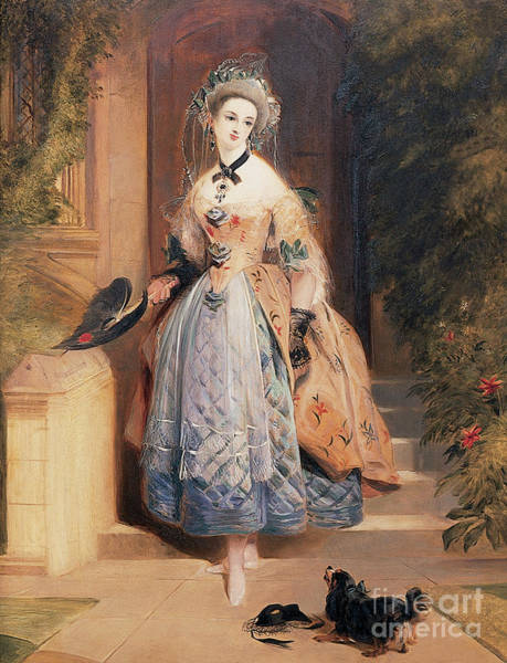 Wall Art - Painting - Portrait Of Louisa Jane, Marchioness Of Abercorn by Daniel Maclise
