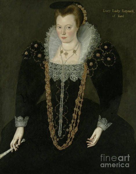 Wall Art - Painting - Portrait Of Lucy, Lady Reynell Of Ford by Marcus the Younger Gheeraerts