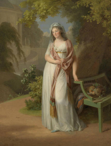 Painting - Portrait Of Luise Von Anhalt-dessau  by Johann Friedrich August Tischbein
