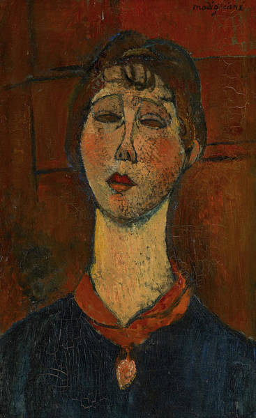 Wall Art - Painting - Portrait Of Madame Dorival, 1916 by Amedeo Modigliani
