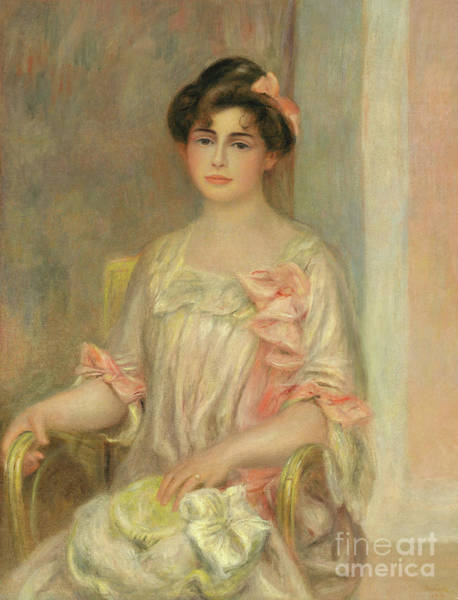 Wall Art - Painting - Portrait Of Madame Josse Bernheim Dauberville by Pierre Auguste Renoir