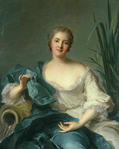 Wall Art - Painting - Portrait Of Madame Marie-henriette Berthelot De Pleneuf by Jean-Marc Nattier