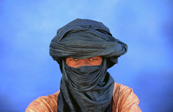 Headwear Photograph - Portrait Of Man Of The Tuareg Tribe by Frans Lemmens