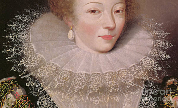 Wall Art - Painting - Portrait Of Marie Vignon, Detail by French School