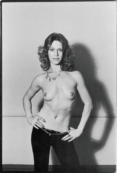 Hip Photograph - Portrait Of Marilyn Chambers, Topless by Fred W. McDarrah