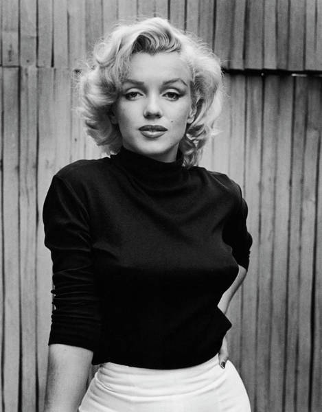 Photograph - Portrait Of Marilyn Monroe by Alfred Eisenstaedt