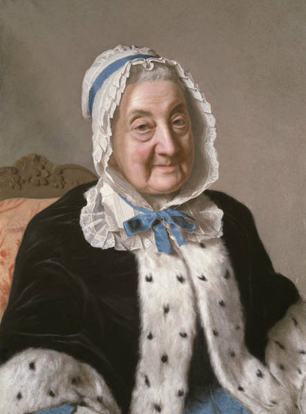 Wall Art - Painting - Portrait Of Marthe Marie Tronchin by Jean-Etienne Liotard