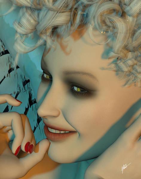 Wall Art - Digital Art - Portrait Of Maruja by Joaquin Abella