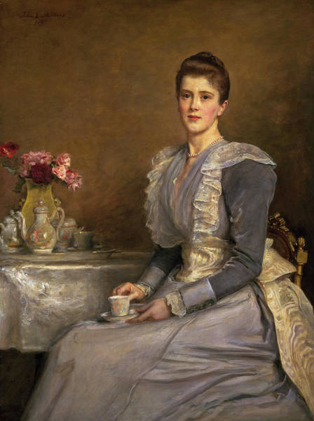 Millais Painting - Portrait Of Mary Endicott, Mrs Joseph Chamberlain by John Everett Millais