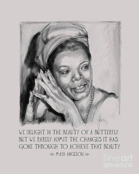 Portrait Of Maya Angelou Art Print