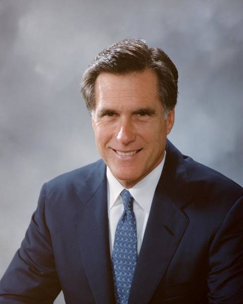 Democracy Photograph - Portrait Of Mitt Romney by Bachrach