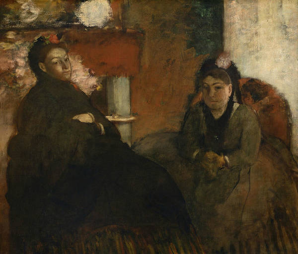 Wall Art - Painting - Portrait Of Mme Lisle And Mme Loubens by Edgar Degas