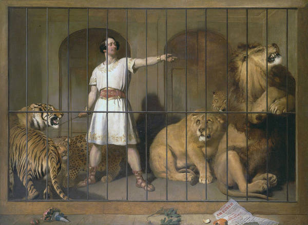 Landseer Wall Art - Painting - Portrait Of Mr. Van Amburgh, As He Appeared With His Animals At The London Theatres by Edwin Landseer