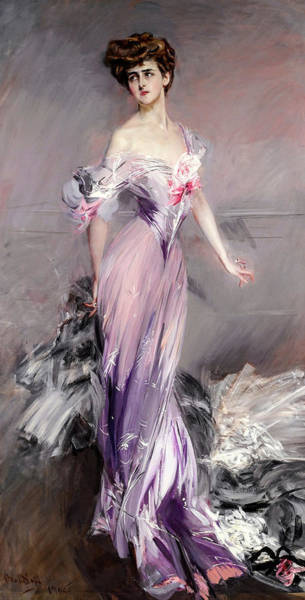Wall Art - Painting - Portrait Of Mrs Howard-johnston, 19th Century by Giovanni Boldini