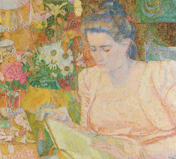 Wall Art - Painting - Portrait Of Mrs Marie Jeannette De Lange, 1900 by Jan Toorop