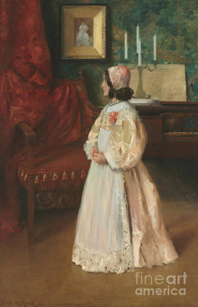 Wall Art - Painting - Portrait Of My Daughter Alice by William Merritt Chase
