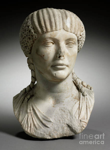 Wall Art - Sculpture - Portrait Of Octavia, Wife Of Nero, Marble by Roman Imperial Period