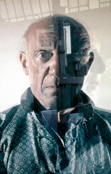 Photograph - Portrait Of Pablo Picasso by Gjon Mili