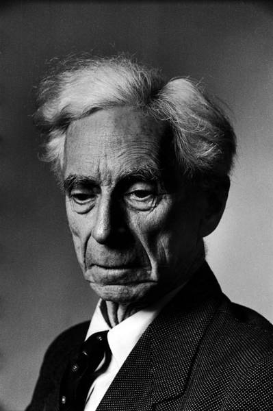 Bertrand Photograph - Portrait Of Philosopher Bertrand Russell by Alfred Eisenstaedt
