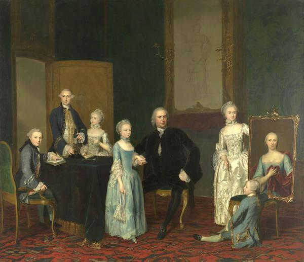 Painting - Portrait Of Pieter Cornelis Hasselaer And His Children by George van der Mijn