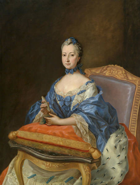 Painting - Portrait Of Princess Sophie Charlotte by Johann Heinrich Tischbein