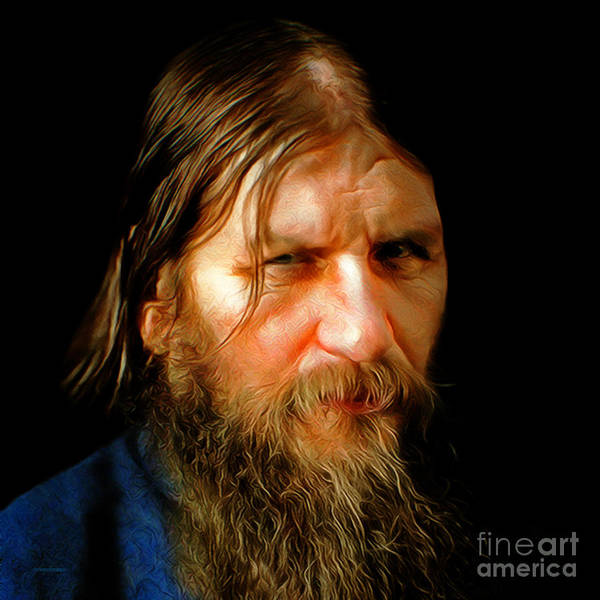 Photograph - Portrait Of Rasputin Russian Mystic Faith Healer 20180922 Square by Wingsdomain Art and Photography