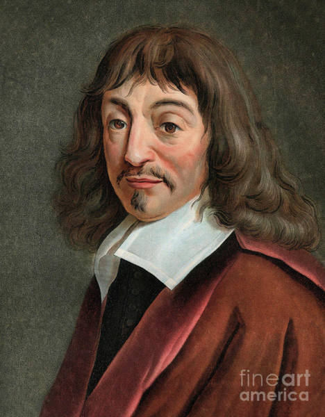 Wall Art - Painting - Portrait Of Rene Descartes 1596-1650 by English School