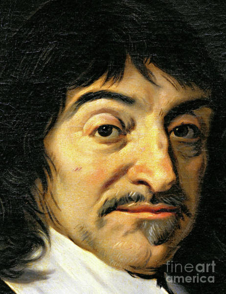 Wall Art - Painting - Portrait Of Rene Descartes By Frans Hals, Detail by Frans Hals