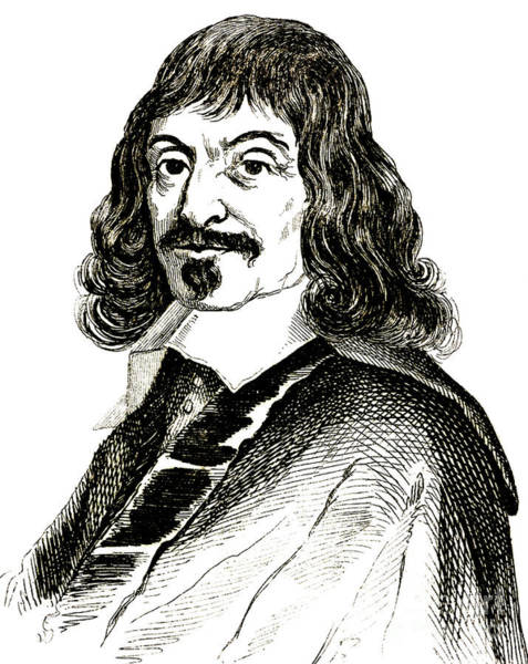 Wall Art - Drawing - Portrait Of Rene Descartes, French Philosopher And Mathematician, Engraving by French School
