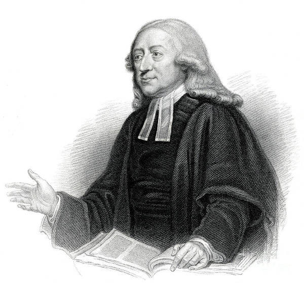 Wall Art - Drawing - Portrait Of Reverend John Wesley by English School