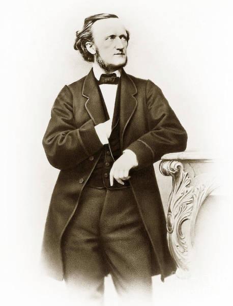 Wall Art - Photograph - Portrait Of Richard Wagner 1813-1883, German Composer Photo By Joseph Albert by Joseph Albert