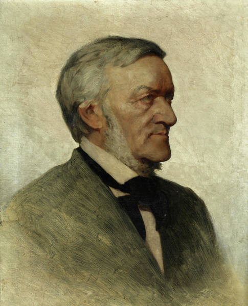 Wall Art - Painting - Portrait Of Richard Wagner by German painter of the 19th century