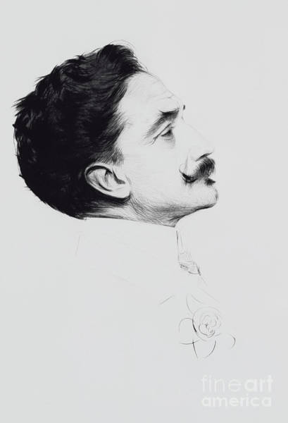 Cesar Wall Art - Drawing - Portrait Of Robert De Montesquiou by Paul Cesar Helleu