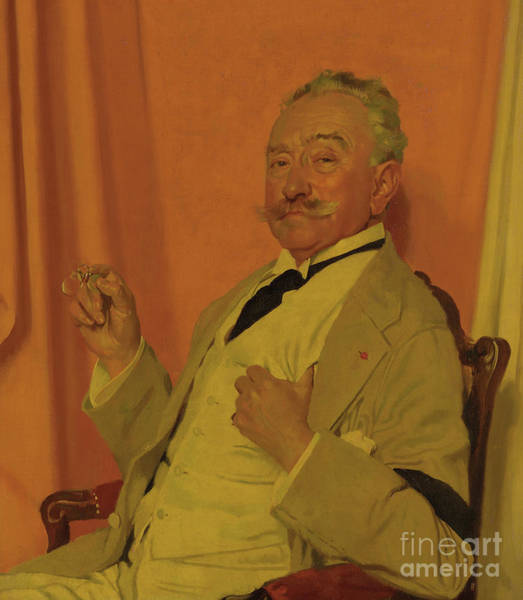 Mustache Painting - Portrait Of Roland Knoedler, 1922 by William Orpen