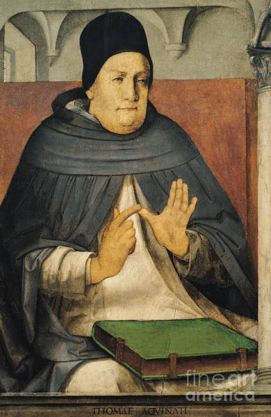 Wall Art - Painting - Portrait Of Saint Thomas Aquinas By Joos Van Gent by Joos van Gent