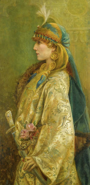 Wall Art - Painting - Portrait Of Sarah Bernhardt As Roxanna In Adrienne Lecouvreur by Walford Graham Robertson