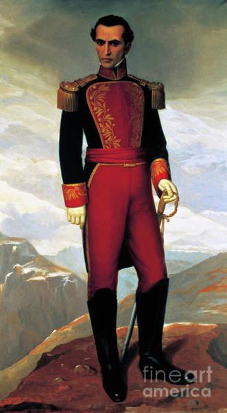 Wall Art - Painting - Portrait Of Simon Bolivar By Antonio Salguero by Antonio Salguero