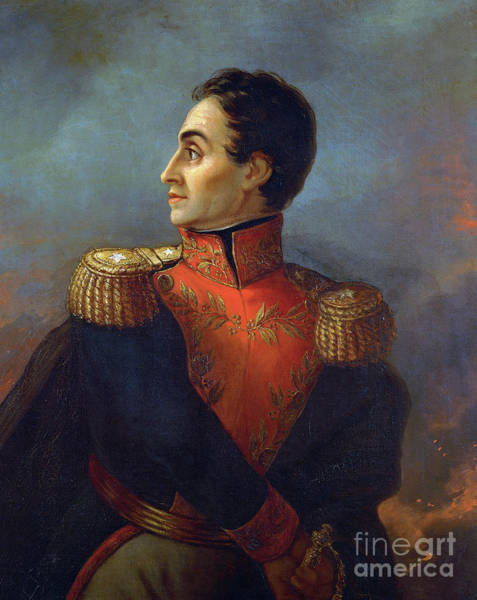 Wall Art - Painting - Portrait Of Simon Bolivar By San Martin De Balcarce by San Martin de Balcarce