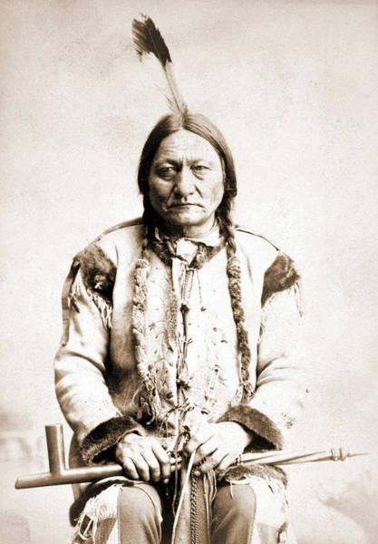 Sitting Bull Photograph - Portrait Of Sitting Bull by American School