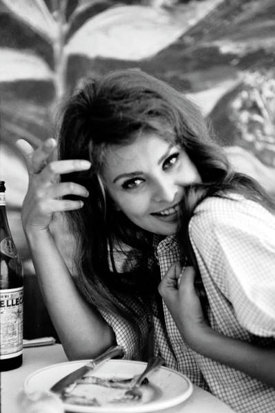 Smiling Photograph - Portrait Of Sophia Loren by Alfred Eisenstaedt