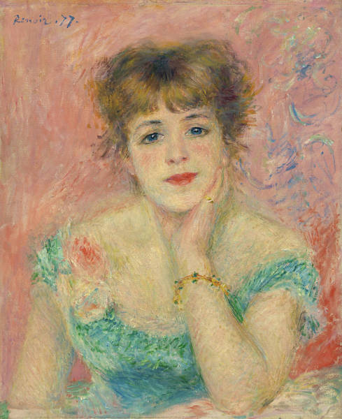 Wall Art - Painting - Portrait Of The Actress Jeanne Samary, 1877 by Pierre-Auguste Renoir