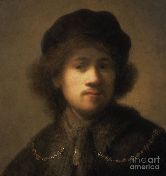Wall Art - Painting - Portrait Of The Artist As A Young Man by Rembrandt Harmensz van Rijn