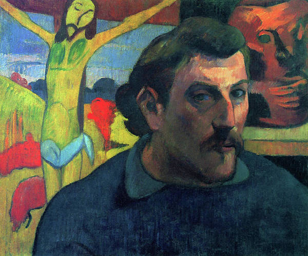 Gauguin Painting - Portrait Of The Artist With The Yellow Christ - Digital Remastered Edition by Paul Gauguin